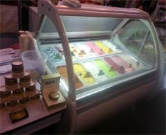 Display for ice cream